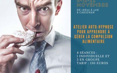 "Atelier Auto-Hypnose : ""STOP à la compulsion alimentaire"""